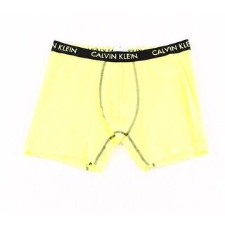 Calvin Klein NEW Yellow Black Mens Size Large L Boxer Brief Underwear