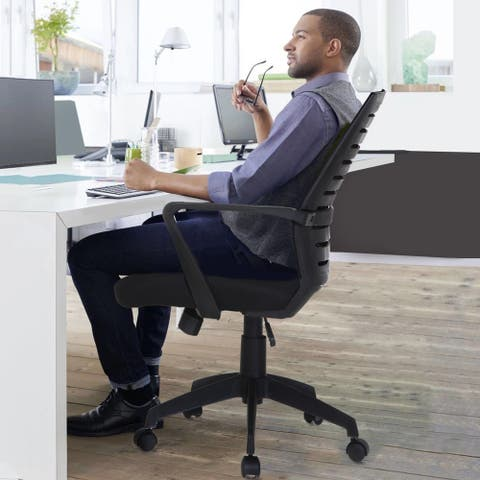 VECELO Office Chairs Mesh Computer Desk Task Home Swivel Black Chairs