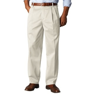 Dockers Signature Khaki Double Pleated Front Chinos Pants Sand 38 x 36