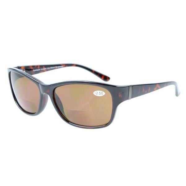 Eyekepper Bi-Focal SunReaders Fashion Bifocal Sunglasses Tortoise/Brown Lens +1.5