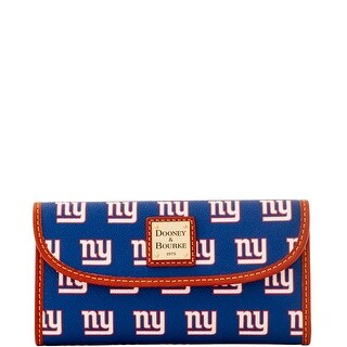 Dooney & Bourke NFL NY New York Giants Continental Clutch Wallet (Introduced by Dooney & Bourke at $128 in Aug 2016)