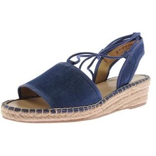 Franco Sarto Womens Liona Canvas Wedge Sandals - 8 medium (b,m)