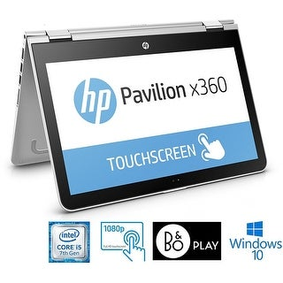 "HP Pavilion 15-bk117cl x360 Convertible, Core i5-7200U, 15.6"" FHD Touch Screen - Silver- Refurbished"