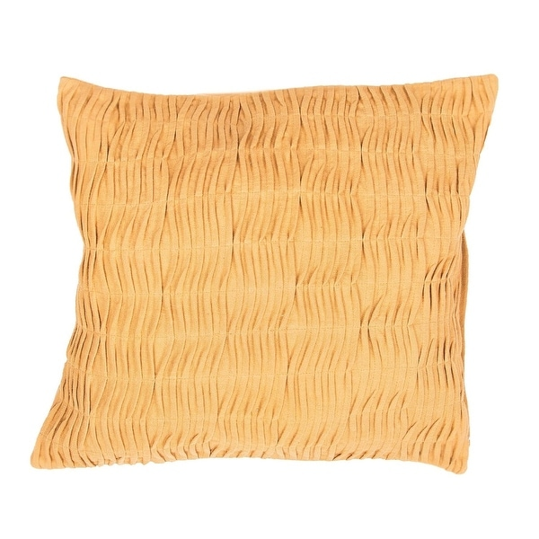 """20"""" Canary Yellow Solid Square Decorative Throw Pillow"""