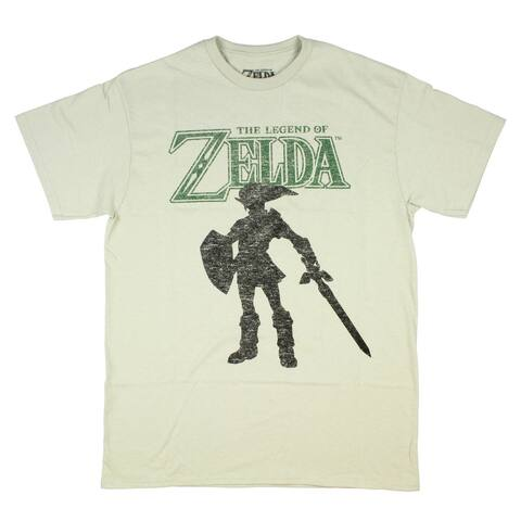 The Legend Of Zelda Silhouette Link Character Gamer Mens T-Shirt