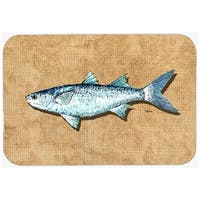 Carolines Treasures 8805LCB 15 X 12 In. Mullet Glass Cutting Board Large Size