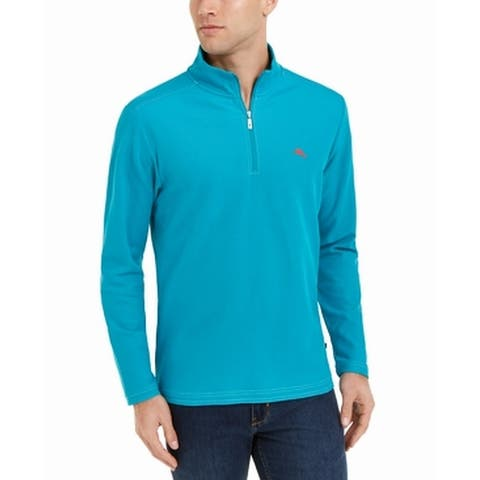 Tommy Bahama Mens Sweater Blue Size 2XL Pullover Quarter-Zip Emfielder
