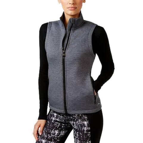 Calvin Klein Women's High Performance Scuba-Neck Vest (Grey, XXL)