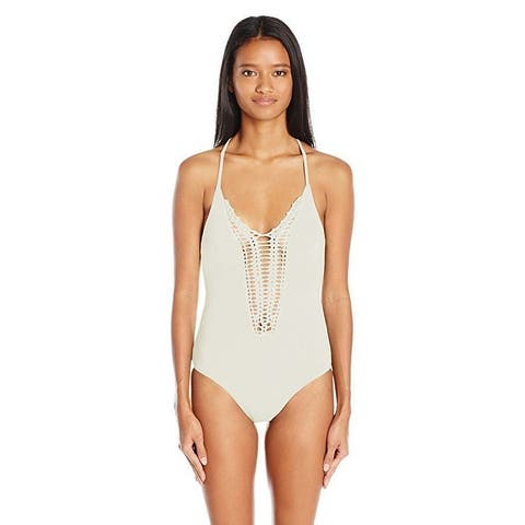 Billabong Women's Hippie Hooray One Piece Swimsuit, Seashell, SZ :Medium