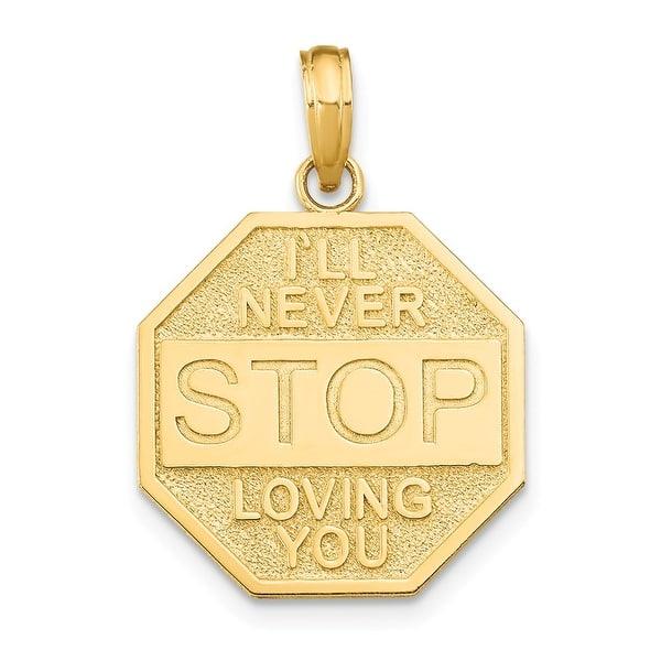 14k Yellow Gold I Ll Never Stop Loving