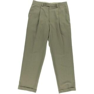 Calvin Klein Mens Solid Wool Dress Pants - 32/30