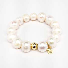 "Pearl Eternal 7"" Sterling Silver stretch bracelet"