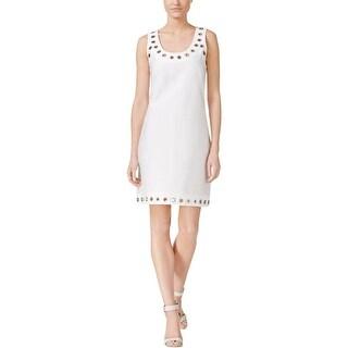 Calvin Klein Womens Casual Dress Grommet Sleeveless