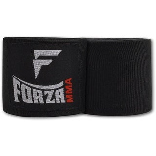 """Forza MMA 120"""" Mexican Style Boxing Handwraps - Black"""