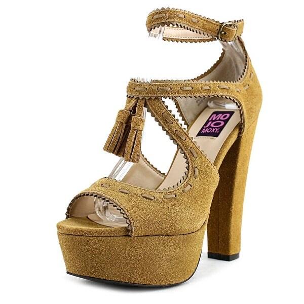 Mojo Moxy Cornelia Women Open Toe Suede Brown Platform Heel