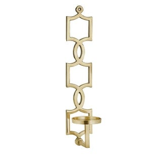 IMAX Home 60302  Sadie Aluminum Wall Mounted Pillar Sconce Candle Holder - Gold