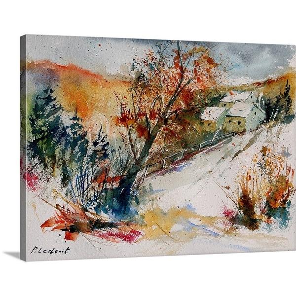 """Watercolor 908002"" Canvas Wall Art"