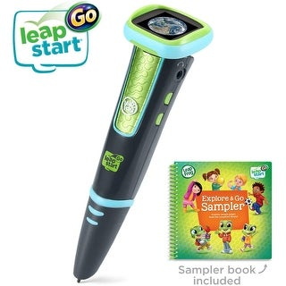 LeapFrog LeapStart Go System Interactive Learning System for Active Minds - Charcoal and Green