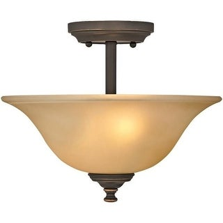 Boston Harbor LYB130928-2SF-VB Semiflush Ceiling Light Fixture, Venetian Bronze