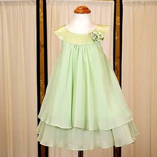 Kids Dream Little Girls Sage Chiffon A Line Flower Girl Dress 2-14