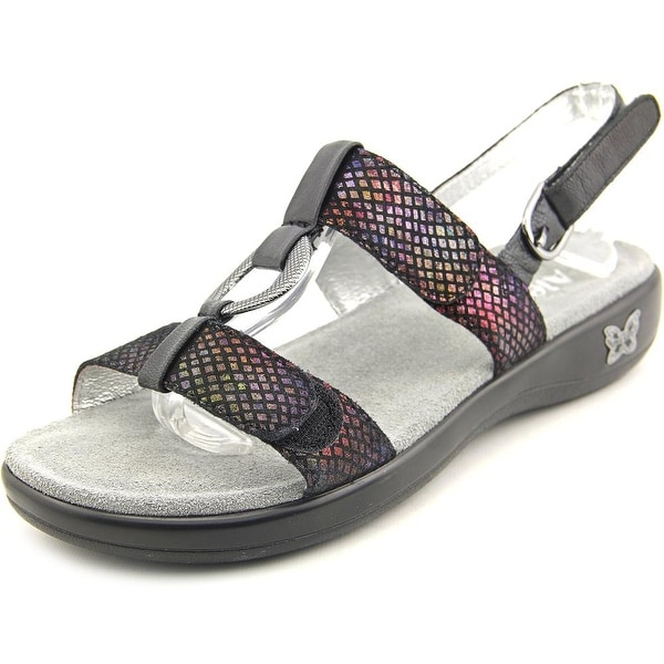 Alegria Julie Women  Open-Toe Leather Multi Color Slingback Sandal