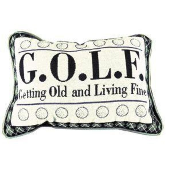 "Set of 2 Getting Old Golf Decorative Throw Pillows 9"" x 12"""
