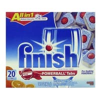 Finish 5170077039 Dishwasher Detergent, Orange Scent, 20 Count