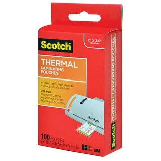 Scotch Thermal Laminating Pouch, 2-8/25 x 3-7/10 Inches, 5 mil Thick, Pack of 100