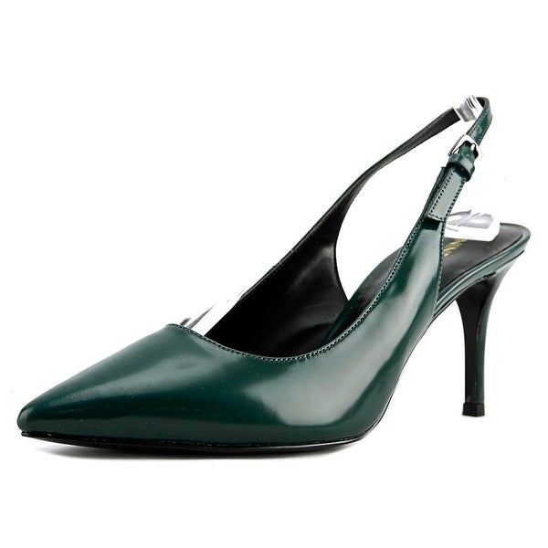 Nine West Maryla Women Pointed Toe Leather Green Slingback Heel
