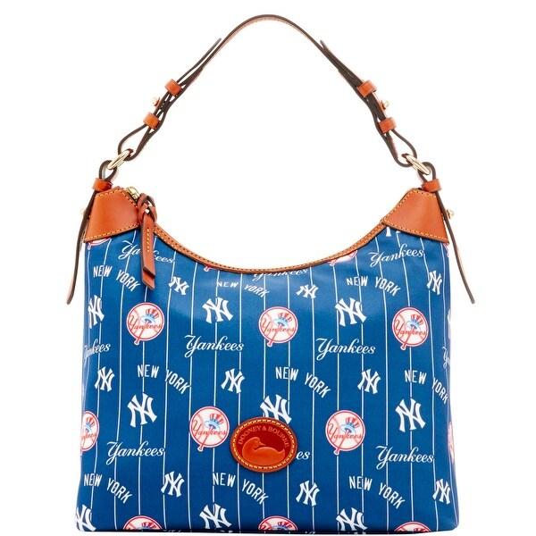 f6ed46f7913d Dooney  amp  Bourke MLB New York Yankees Large Erica Shoulder Bag ( Introduced by Dooney