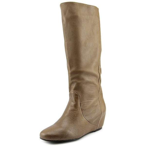 Mojo Moxy Grimm Women Round Toe Leather Mid Calf Boot