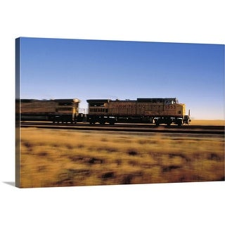 """""""Freight train on the move"""" Canvas Wall Art"""