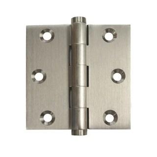 "Deltana DSB3 3"" x 3"" Solid Brass Square Corner Plain Bearing Mortise Hinge - Pair"