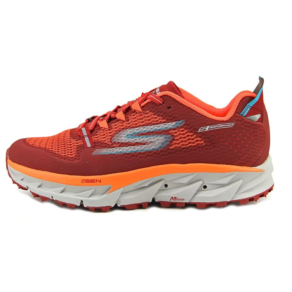 Skechers Go Trail Ultra 4 Men Round Toe Synthetic Red Trail Running