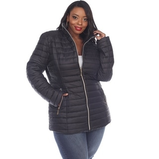 Link to White Mark Women's Plus Size Puffer Coat Similar Items in Women's Outerwear