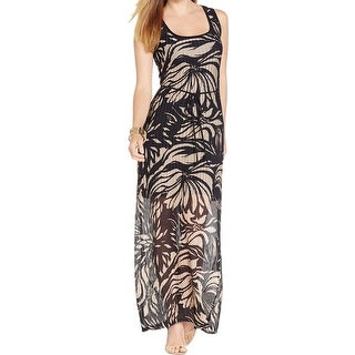 Connected Apparel Womens Tank Dress Tropical Print Maxi - 12