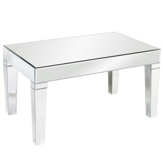 "Howard Elliott Leo Mirrored Coffee Table 36"" Wide Mirrored Glass Coffee Table"