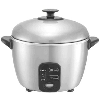 Sunpentown SC-886 3-Cup Stainless Steel Cooker and Steamer - Stainless Steel
