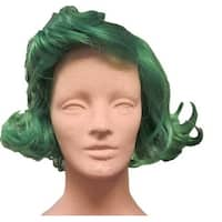 Wonka Chocolate Factory Worker Green Costume Wig