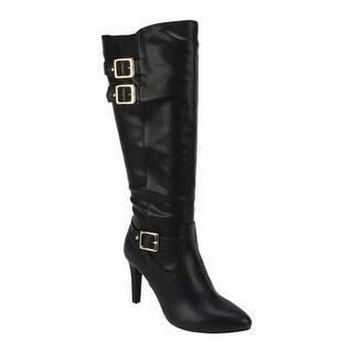 Rialto Women's Cahoon Knee High Boot Black Smooth Polyurethane