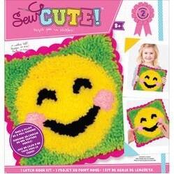 Emoji Blush Smile - Emoji Sew Cute! Latch Hook Kit