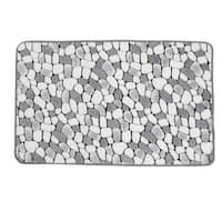 Unique Bargains White Gray Cobblestone Pattern Kitchen Doormat Floor Mat Area Rug Carpet In Home