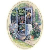 """Garden Door Counted Cross Stitch Kit-12""""X16"""""""