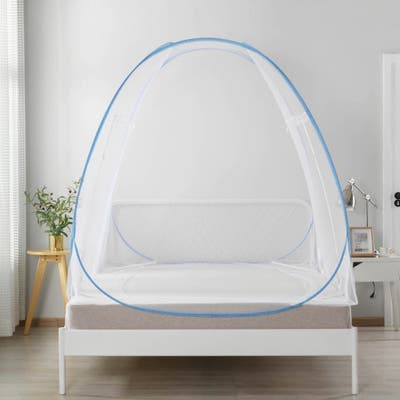 Sleep Time Cold Air Blocking Privacy Cozy Comfortable Pop Up Bed Tent