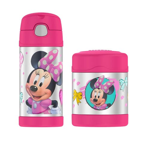 Thermos Funtainer 10 Oz Food Jar & 12 Oz Beverage Bottle Minnie Mouse - 10 Oz