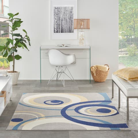 Nourison Grafix Transitional Geometric Abstract Area Rug