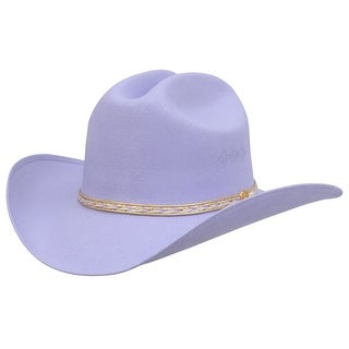 Alamo Cowboy Hat Girls Little Misses Canvas Cattleman Lavender 21102 - S/M