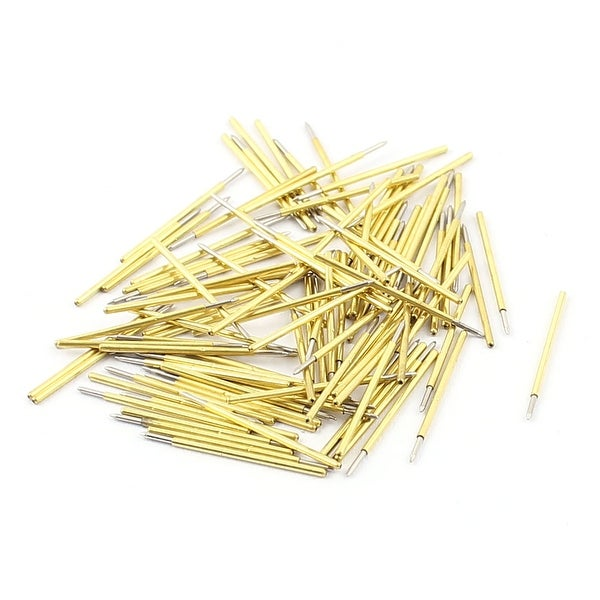 100Pcs P50B 0.5mm Spear Tip PCB Borad Spring Test Probes Pins Gold Tone 16mm