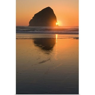 """USA, Oregon, beach with stack rock"" Poster Print"