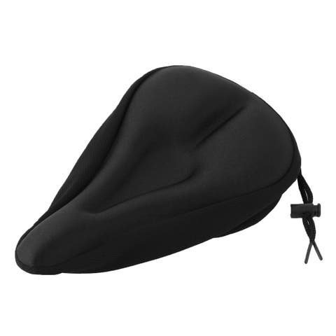 Father s Day Gift l Bicycle Silicone Triangle Groove Shaped Saddle Seat Cover Cushion Black